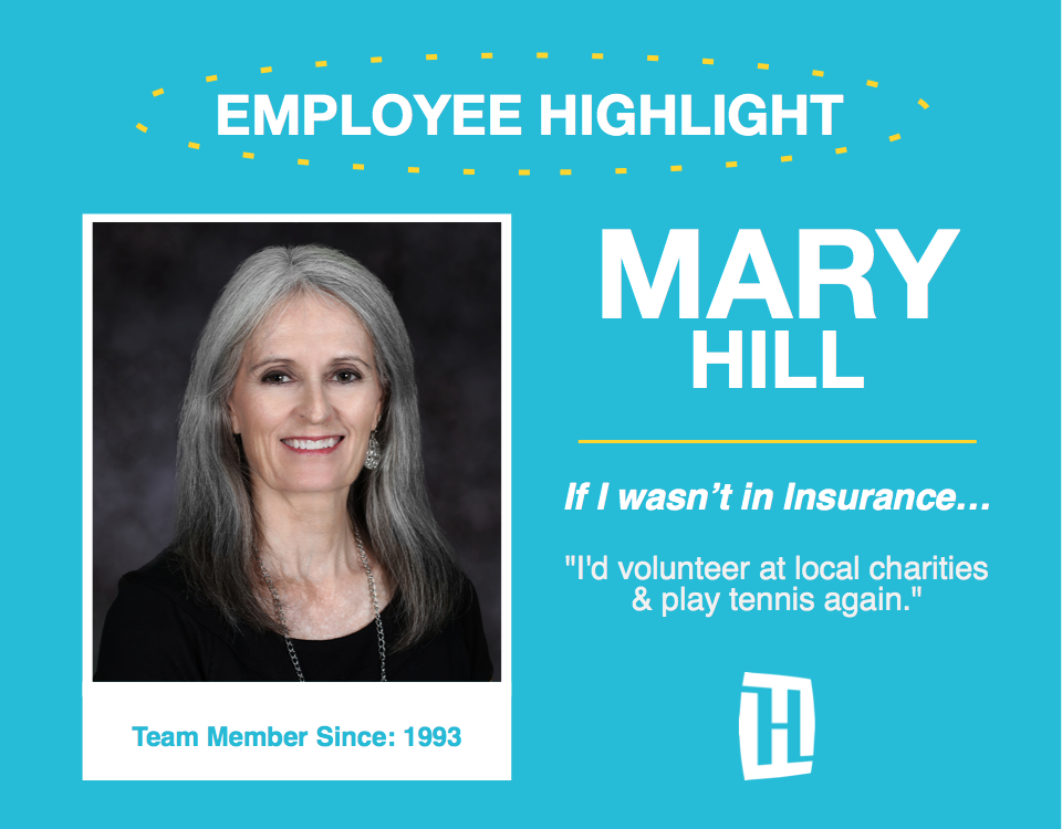 Mary Hill Sept Employee Highlight Heacock Insurance