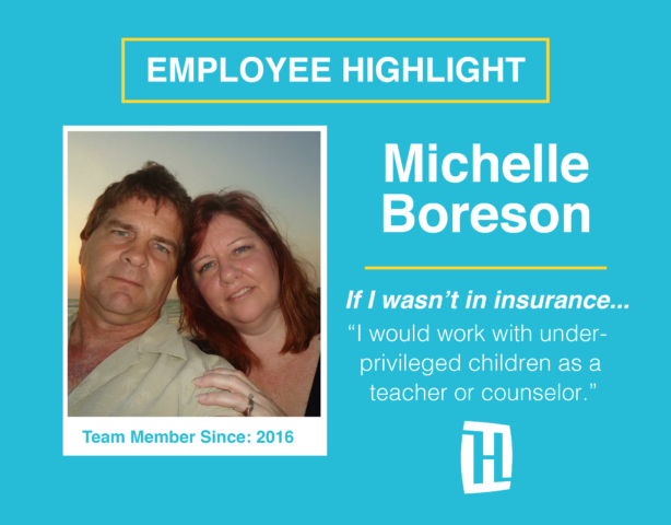 Employee of the month, Michelle Boreson (pictured)